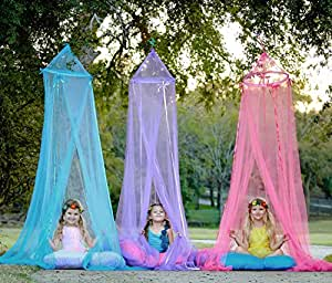 Girls Hanging Bed Canopy and Play Tent Set (3 Pieces) for Indoor or Outdoor By Heart to Heart