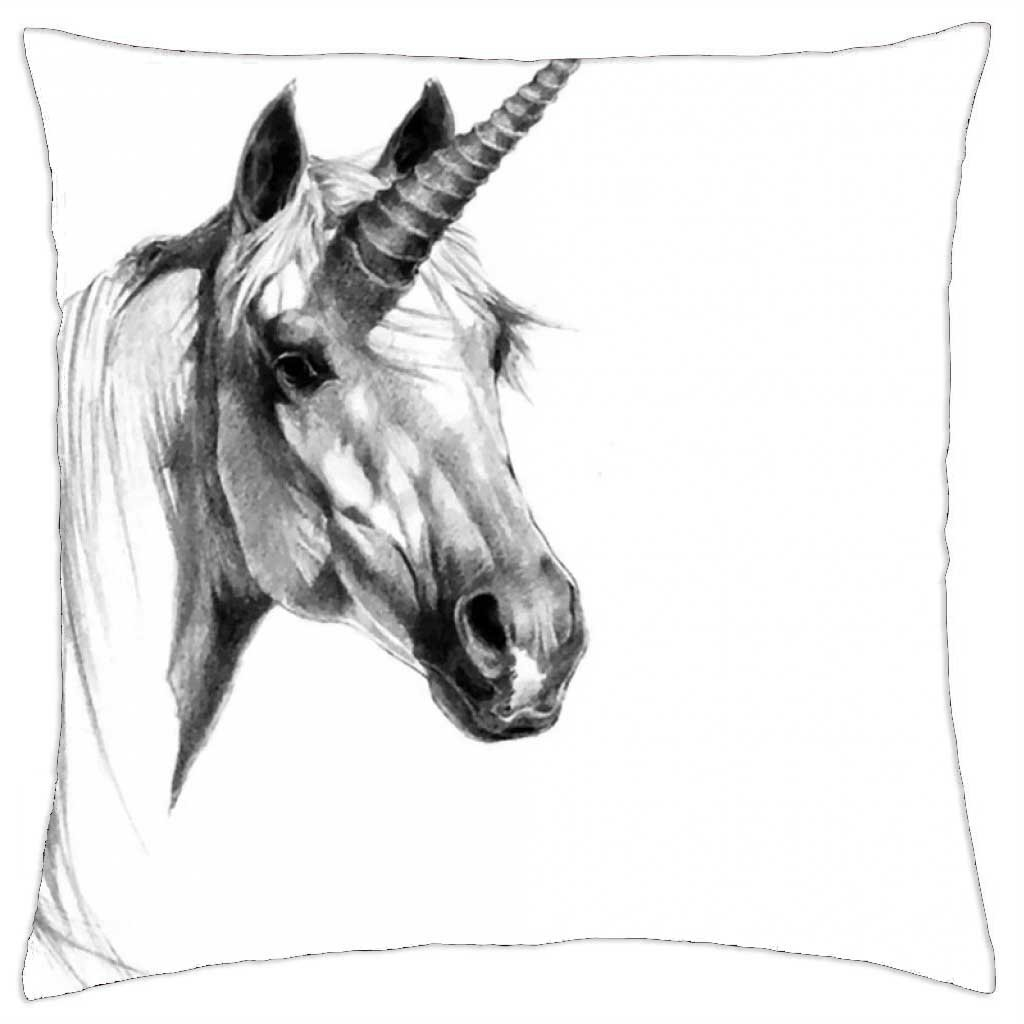 Irocket unicorn pencil drawing 1 throw pillow cover 24 x 24 60cm x 60cm amazon co uk kitchen home