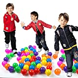 Pit Balls, Dadoudou Colorful Fun Phthalate Free BPA Free Crush Proof Balls Soft Plastic Air-Filled Ocean Ball Playballs for Baby Kids Tent Swim Toys Ball Pack of 50