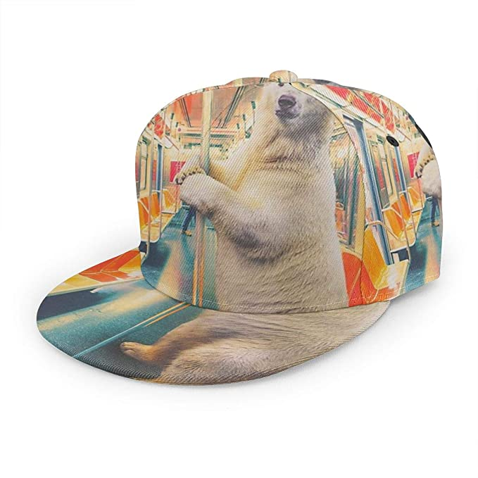 Gorra de béisbol Inaayi Polar Express Train Funny Polar Bear ...
