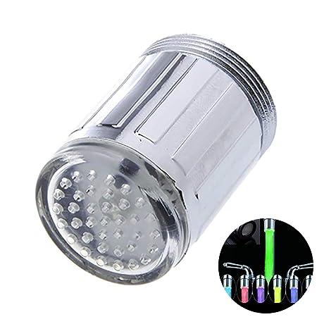 Hilai Glow LED-Beleuchtung für Wasserhahn, Farbwechsel, 7 Farben