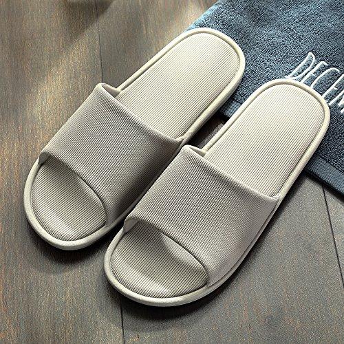 fankou Delgado y Ligero de Verano Parejas Cool Zapatillas Mujer Interiores Baño de plástico Antideslizante Shoes Home Zapatos de Baño,43-44, Gris Claro
