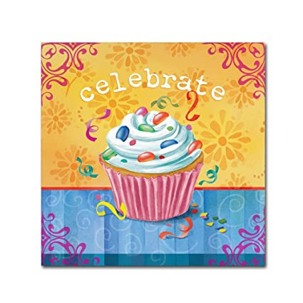 Amazon.com: Cupcake II by Fiona Stokes-Gilbert, 24x24-Inch Canvas ...