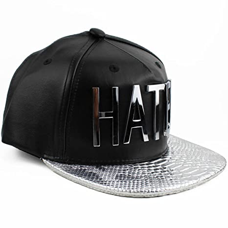 1fc3c8abf9bb2 Image Unavailable. Image not available for. Color  Hater Silver Snakeskin  Strapback Hat
