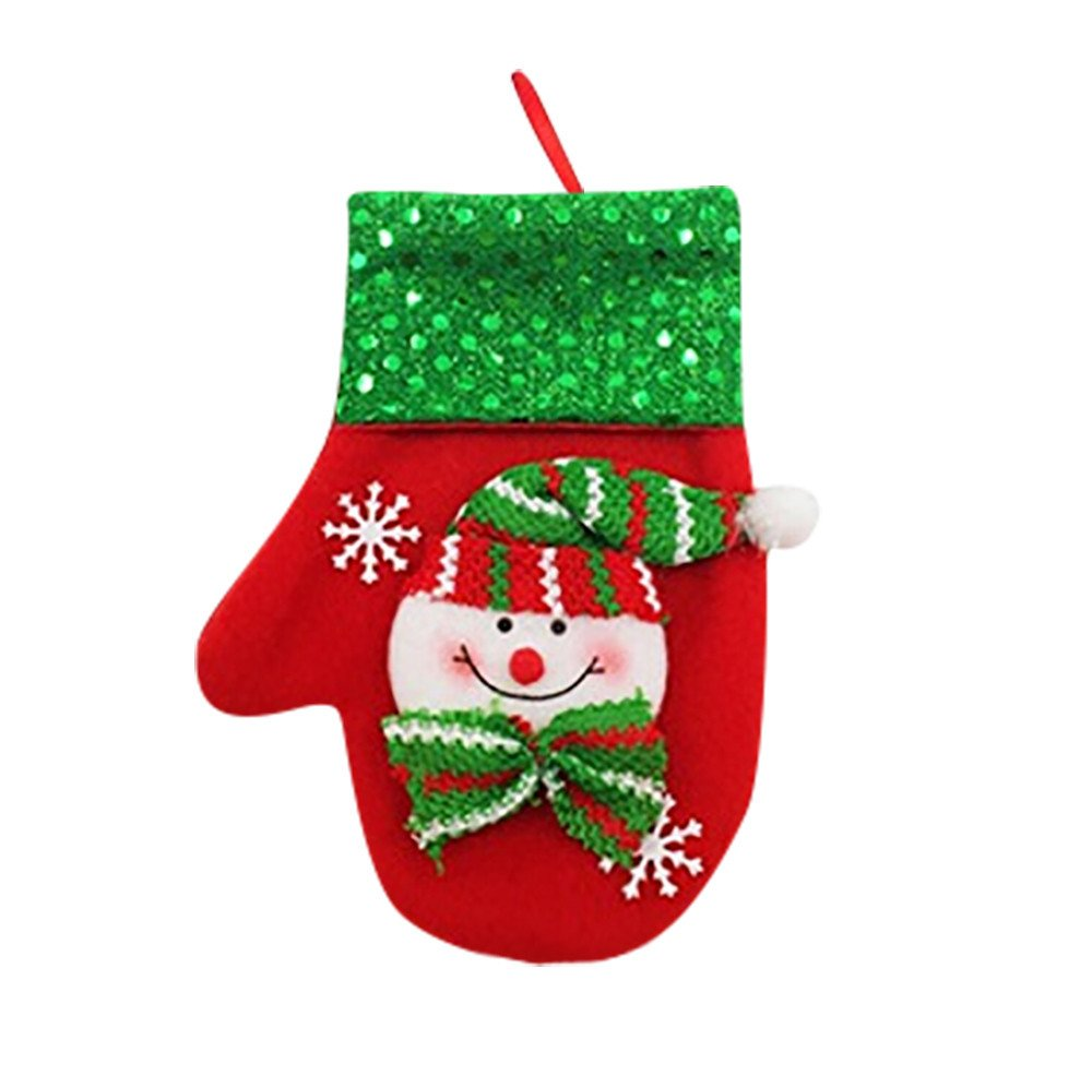 LiPing 6.3×3.5'' Christmas Xmas Decor Snowman Kitchen Tableware Holder Pocket Dinner Cutlery Bag Absorbent Eco-Friendly Protects Furniture (C)