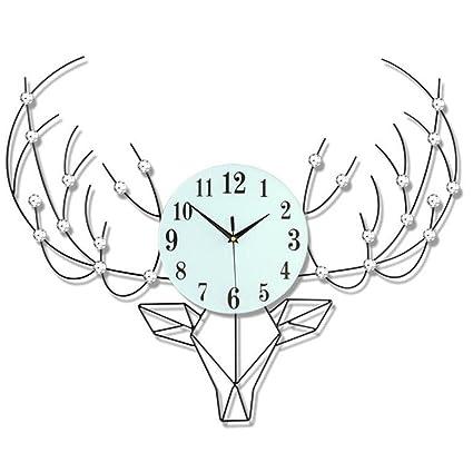 H&M Moderna simple números arábigos Relojes de pared sala de estar de moda personalidad mute dormitorio