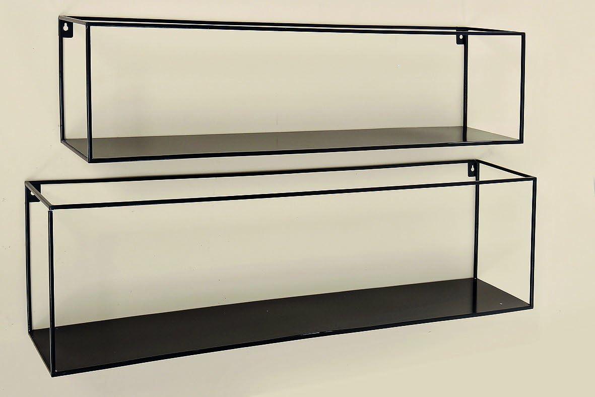 Set De 2 Etageres En Metal Noir Design Amazon Fr Cuisine Maison