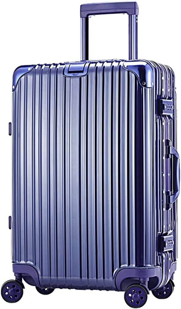 XFRJYKJ-Luggage box Luggage Trolley Case Small Fresh 24 Inch Aluminum Frame Password Luggage 28 Inch Suitcase Color : Blue, Size : 20 inches