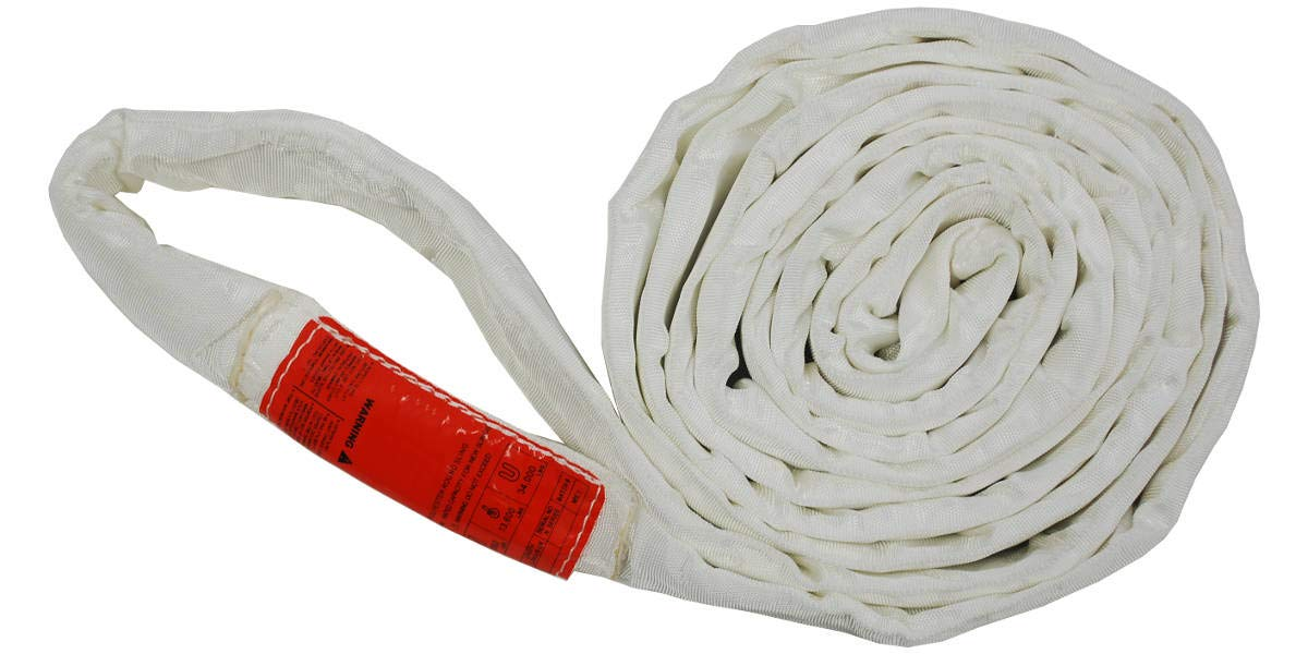 20 Lift Sling Polyester Round Sling White 17000LBS Vertical