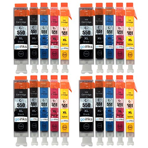 4 Compatible Set of 5 Canon PGI-550 & CLI-551 Printer Ink...