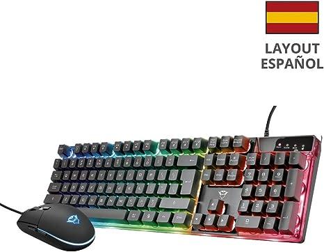 Trust GXT 838 Azor Teclado y ratón para Gaming, Negro: Amazon.es: Informática