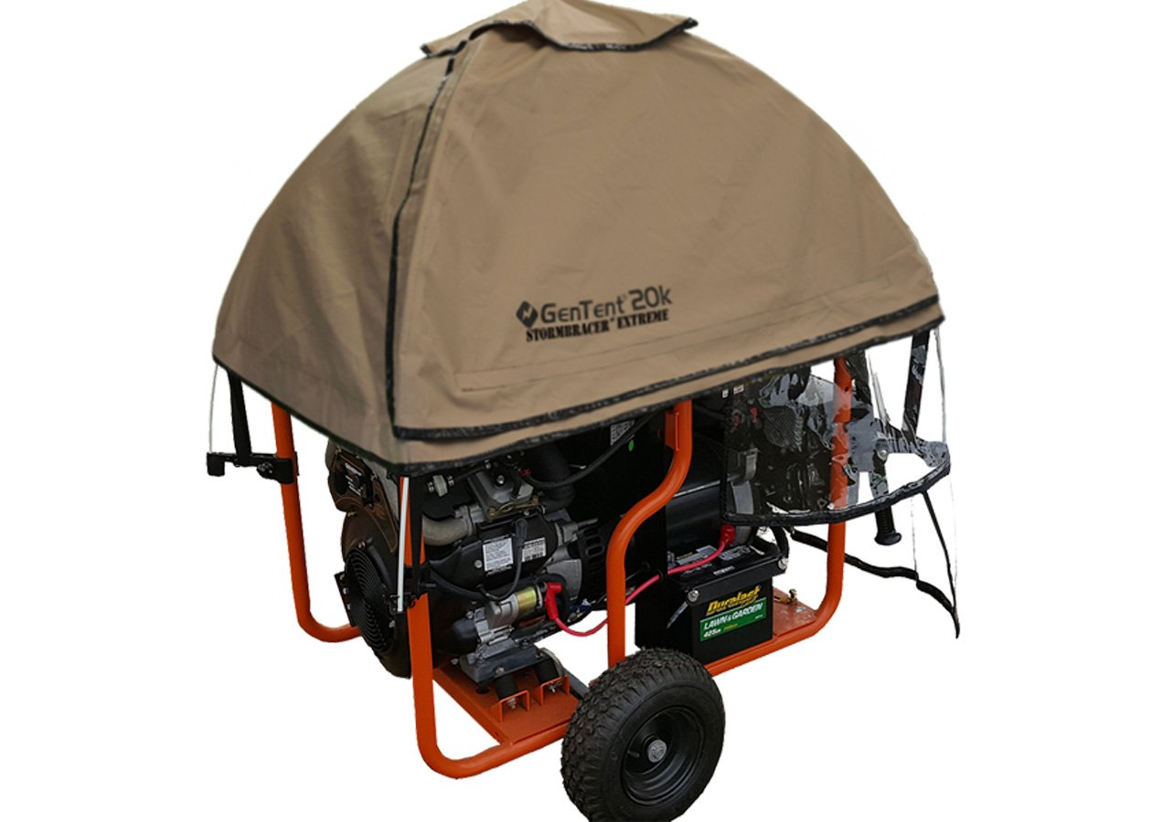 GenTent 20K Running Cover (Extreme, TanLight) for Generac GP12500 - GP17500 Generators by GenTent Safety Canopies