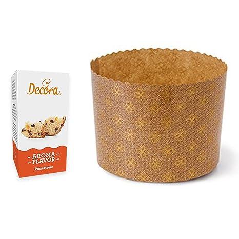Zeus Party - Kit de 10 moldes de panettone de 1000 gr + aroma de panettone