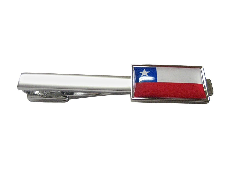 Fino con bordes cuadrados de bandera de Chile Tie Clip: Amazon.es ...