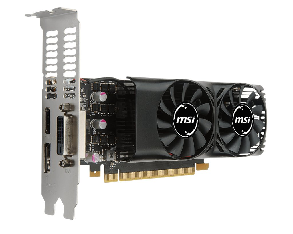 MSI NVIDIA GeForce GTX 1050Ti 4 GB 4GT OC 7000 MHz GDDR5 128 Bit Memor