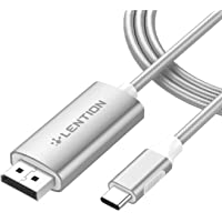 LENTION 6FT USB C to DisplayPort Cable Adapter (4K/60Hz) Compatible 2020-2016 MacBook Pro 13/15/16, New iPad Pro/Mac Air…
