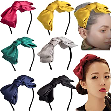 Girls Fabric Alice Bands Headband Hair Band Ladies Girls Women Bright Color 6 pk