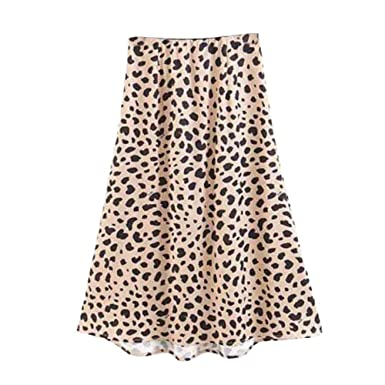 Cinnamou Falda Leopardo Mujer Sexy Transparente Cintura Alta ...