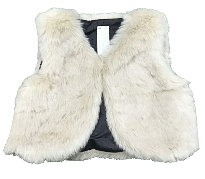 d63b65c54226 Amazon.com  eKooBee Baby Little Girls Faux Fur Vest Outerwear  Clothing