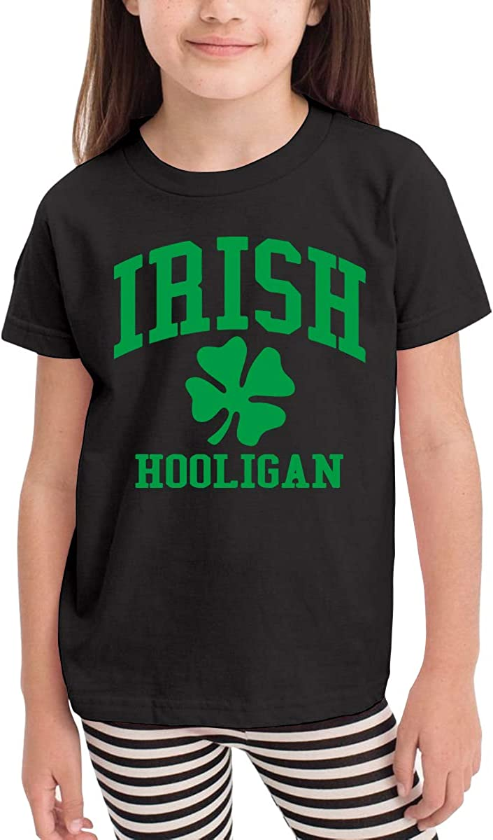 Childrens Irish Hooligan Cotton Short Sleeve Tee Tops Size 2-6