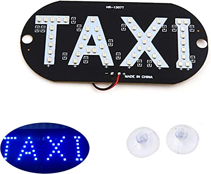 Rideshare LED Sign with Bright Lights Rectangular 5.5 x 5.5