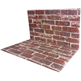3D Brick Wall Panels PVC Foam Wallpaper Brown White Color Painted Faux Brick 3D Wall Panels Wallpaper for Office Bedroom Livi