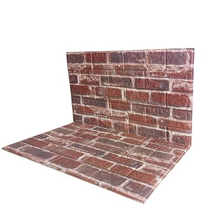 Swell Amazon Com 3D Brick Wall Panels Pvc Foam Wallpaper Brown Home Interior And Landscaping Ologienasavecom