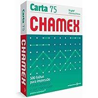Chamex Papel Sulfite Carta 75, 216 x 279mm, 500 Folhas