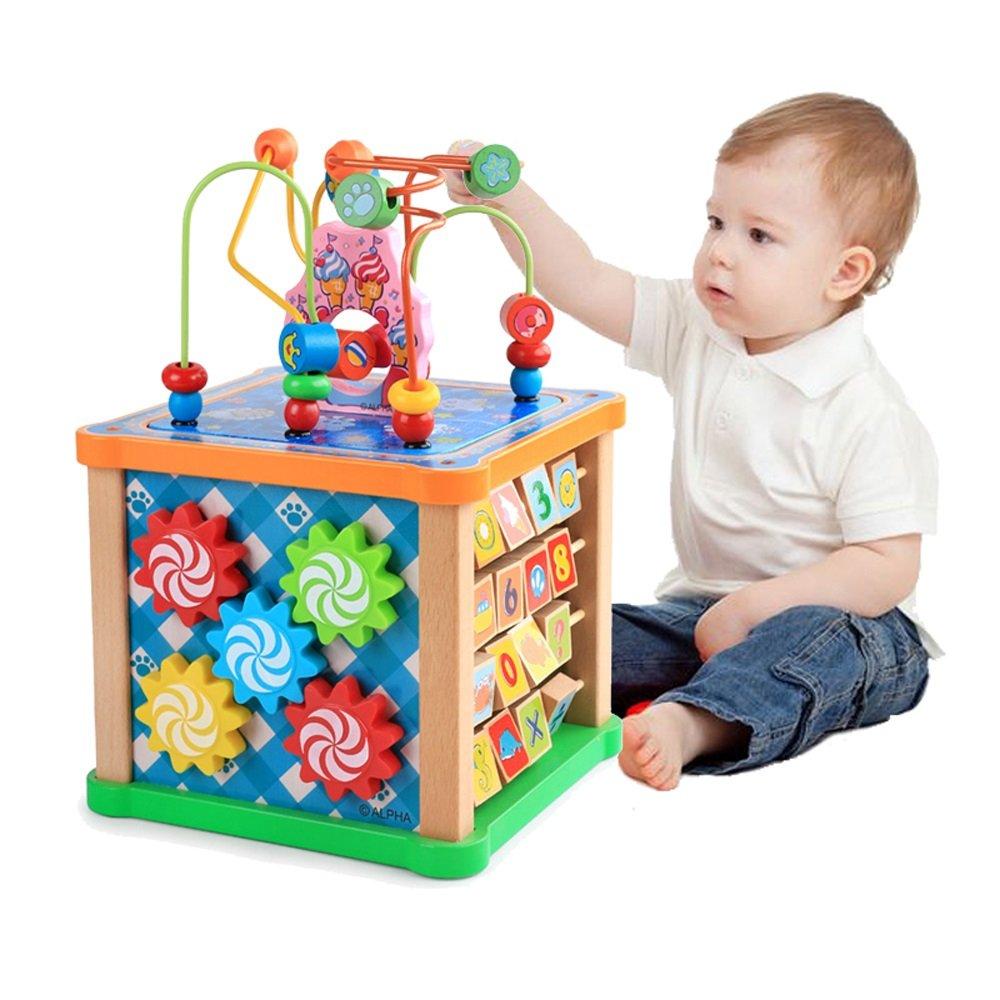 買い誠実 木製キューブ B07FPP6DRT、多機能ビーズ迷路子供のキューブ玩具子供の贈り物を学ぶ B07FPP6DRT, Mt.石井スポーツ:52df3d94 --- a0267596.xsph.ru