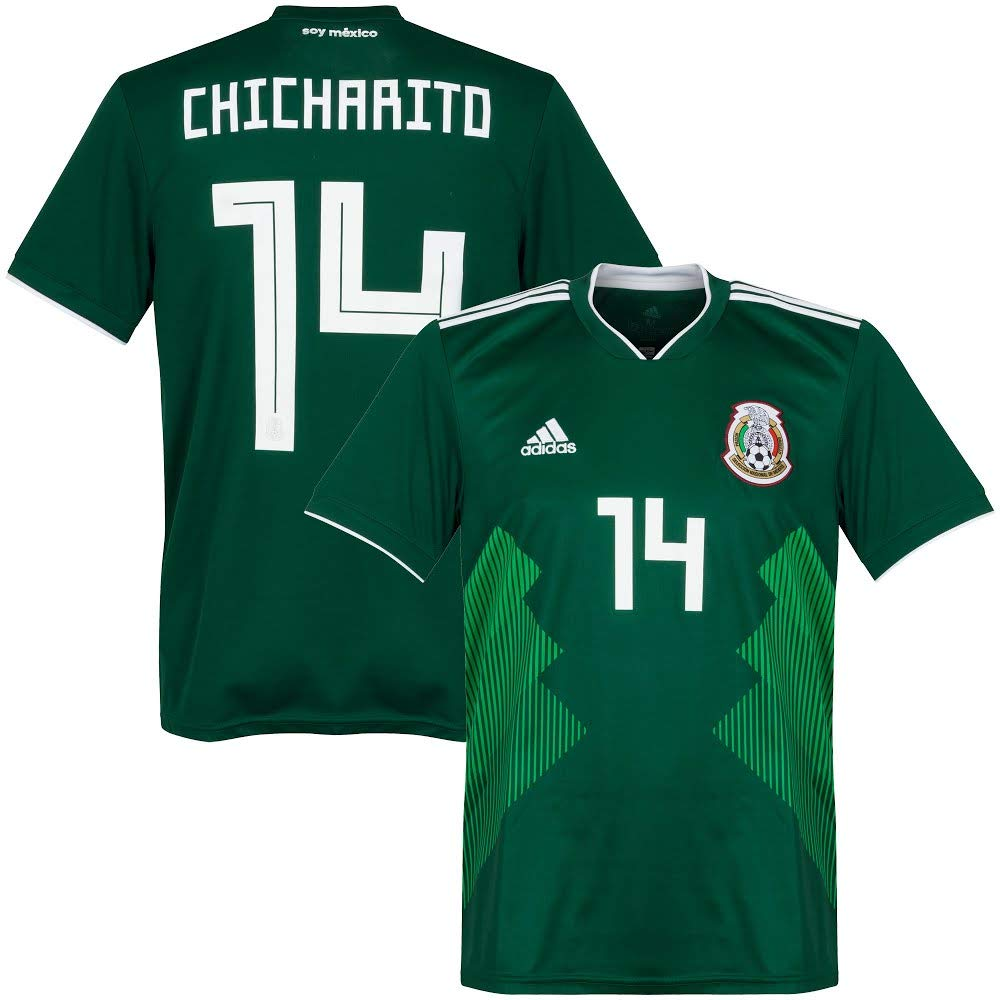 84e6df17e Amazon.com   Mexico Home Chicharito Jersey 2018   2019 (Official Printing)  - S   Sports   Outdoors