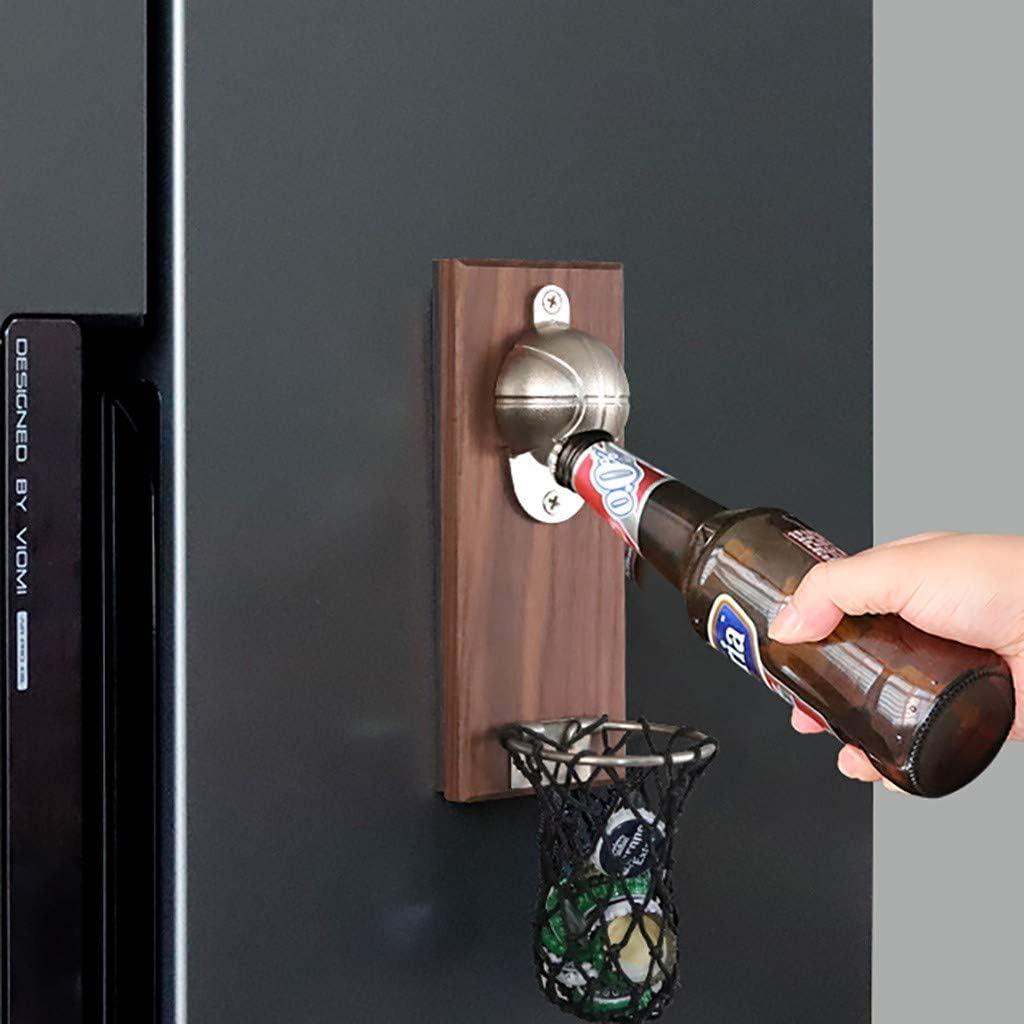 Adminitto88 Abrebotella con Iman De Botellas De Cerveza Retro Montado En La Pared con Im/án En La Parte Posterior F/ácil De Montar En La Pared O Refrigerador Adecuado para Los Amantes De La Cerveza