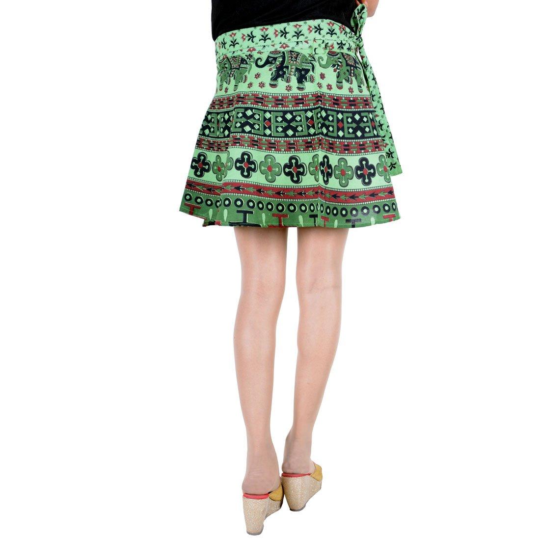 b7bc6ee4ea2 Skirt Indian Gypsy Hippy Short Mini Short Rapron Wraparound Skirt Women  Dress at Amazon Women s Clothing store