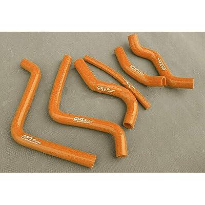 For Honda CR125 CR125R CR 125 R 2000 2001 2002 silicone radiator hose (ORANGE): Automotive