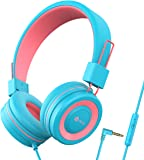 iClever HS14 Kids Headphones with Microphone, Headphones for Kids with 94dB Volume Limited for Boys Girls, Adjustable…