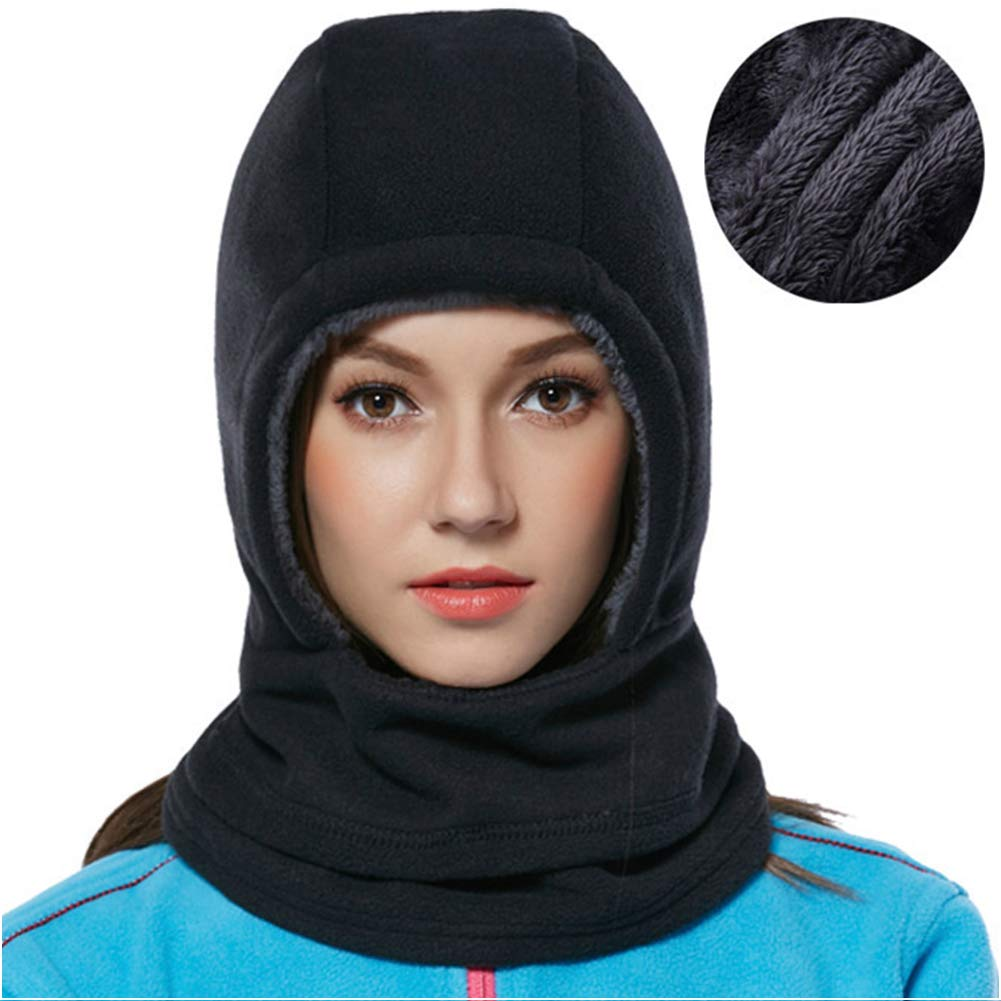 Elezay Winter Warm Windproof Balaclava Outdoor Sports Fleece Mask for Men and Women HSDM8004T-BLACK