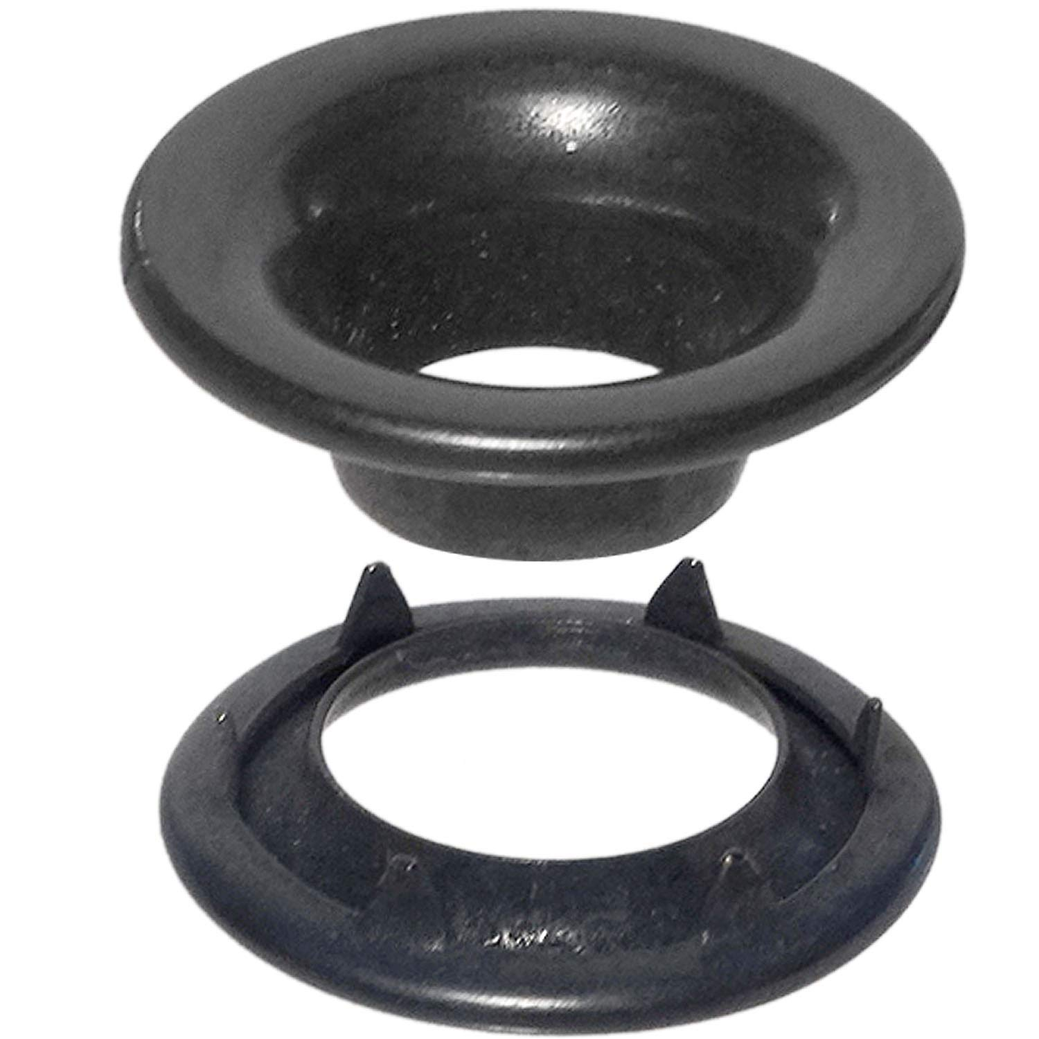 Stimpson Rolled Rim Grommet and Spur Washer Dull Black Chem Durable, Reliable, Heavy-Duty #0 Set (1,440 Pieces of Each)