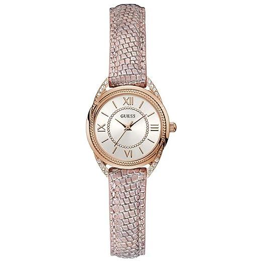Guess Reloj Analógico para Mujer de Cuarzo con Correa en Cuero W1085L1: Amazon.es: Relojes
