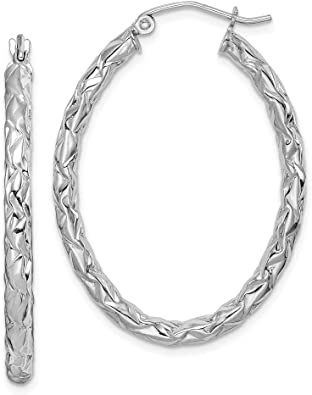 925 Sterling Silver Textured Hinged Hoop Earrings Ear Hoops Set Fine Jewelry For Women Gifts For Her