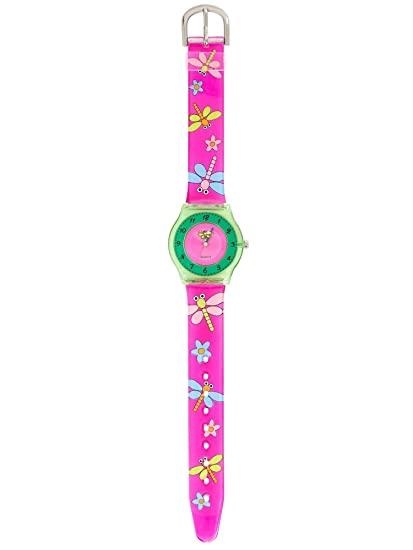 KIDDUS Reloj Infantil Niña Educativo Analógico Cuarzo Japonés. KI10103: Amazon.es: Relojes
