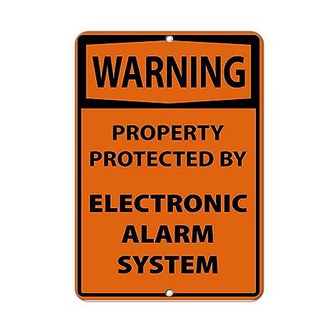 Cheyan Señales de Metal de Aluminio Warning Propiedad ...