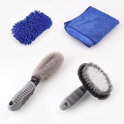 Louyihon-Tool - Juego de 4 herramientas para limpiar neumáticos y ...