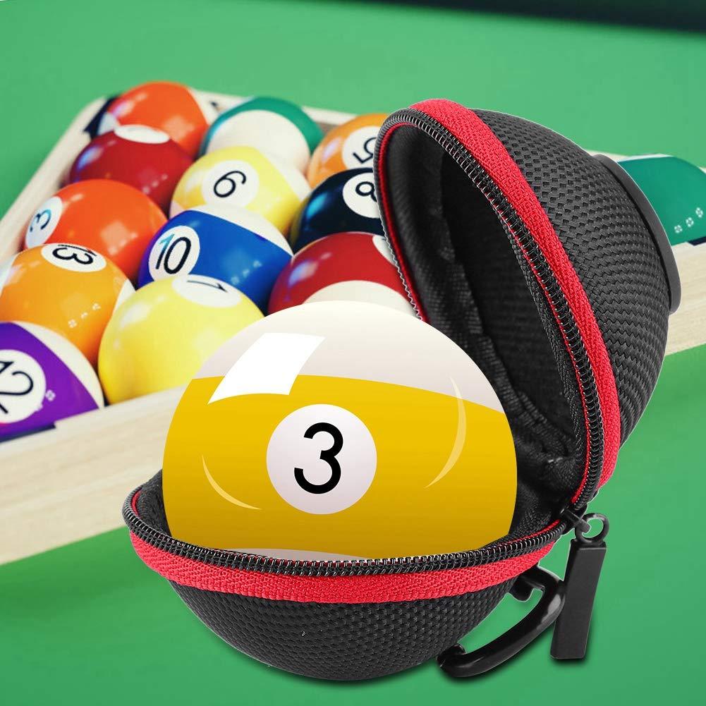 Cue Ball Case Clip-on Attaching Billiard Balls Holder Portable Billiards Protector Accessory Billiard Ball Bag Carrying Case Holder Vbestlife
