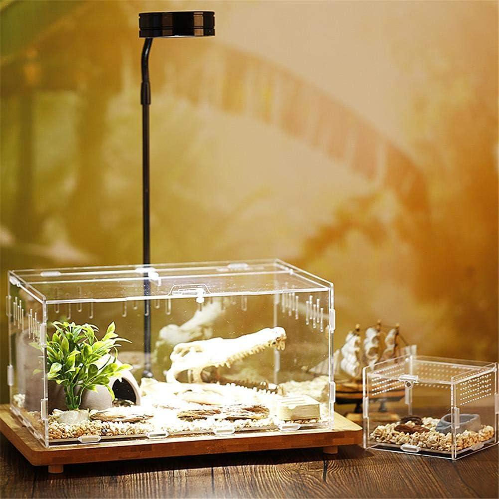 Vinnykud Reptile Feeding Box Breeding Box,Portable Acrylic Transparent Insect Habitat Terrarium Case for Mini Pet Snake Spider Lizard Scorpion Centipede