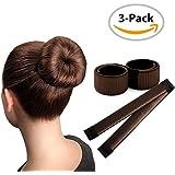 Brown Magic Bun Maker / 3 PACK / Perfect Hair Bun Making Tool / Donut Bun DIY Hair Styling / Hair Bun Shaper / Ballet Hair Bun