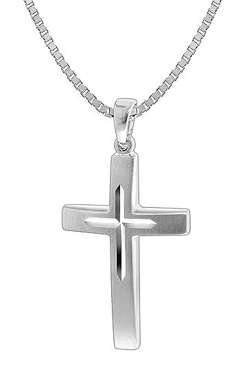 53584c44b78d trendor Silber Herrenkette mit Kreuz 35849  Amazon.de  Schmuck