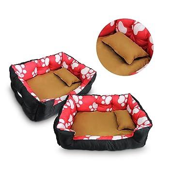 Bon Enjoy® cama para perros Perros sofá Perros Cojín para perros Animales Gato cama manta para perro (Color: Rojo/Negro Tamaño: S - XL: Amazon.es: Productos ...