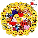 Best Emoji Backpacks For Kids - Danirora Christmas Emoji Keychains Bulk, [46 Pack] Mini Review