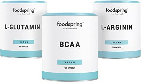 foodspring L-arginina, 120 cápsulas, Para un mejor suministro ...