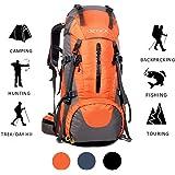 70L Trekking Sac avec housse de pluie pour l'escalade,le camping,la randonnée pédestre, Voyage et Alpinisme