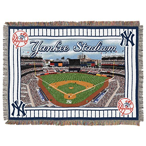 The Northwest Company MLB New York Yankees Stadium Woven Tapestry Throw, 48